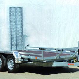 Baumaschinen-Transportanhänger mieten